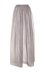 Grey Silk Maxi Skirt by RUBAN for Preorder on Moda Operandi