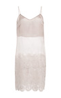 Light Grey Organza Tank With Ivory Lace by RUBAN for Preorder on Moda Operandi