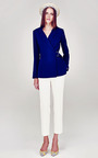 Tonal Collar Wrap Front Jacket by A LA RUSSE for Preorder on Moda Operandi