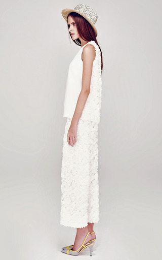 Sleeveless Top With Applique Back by A LA RUSSE for Preorder on Moda Operandi