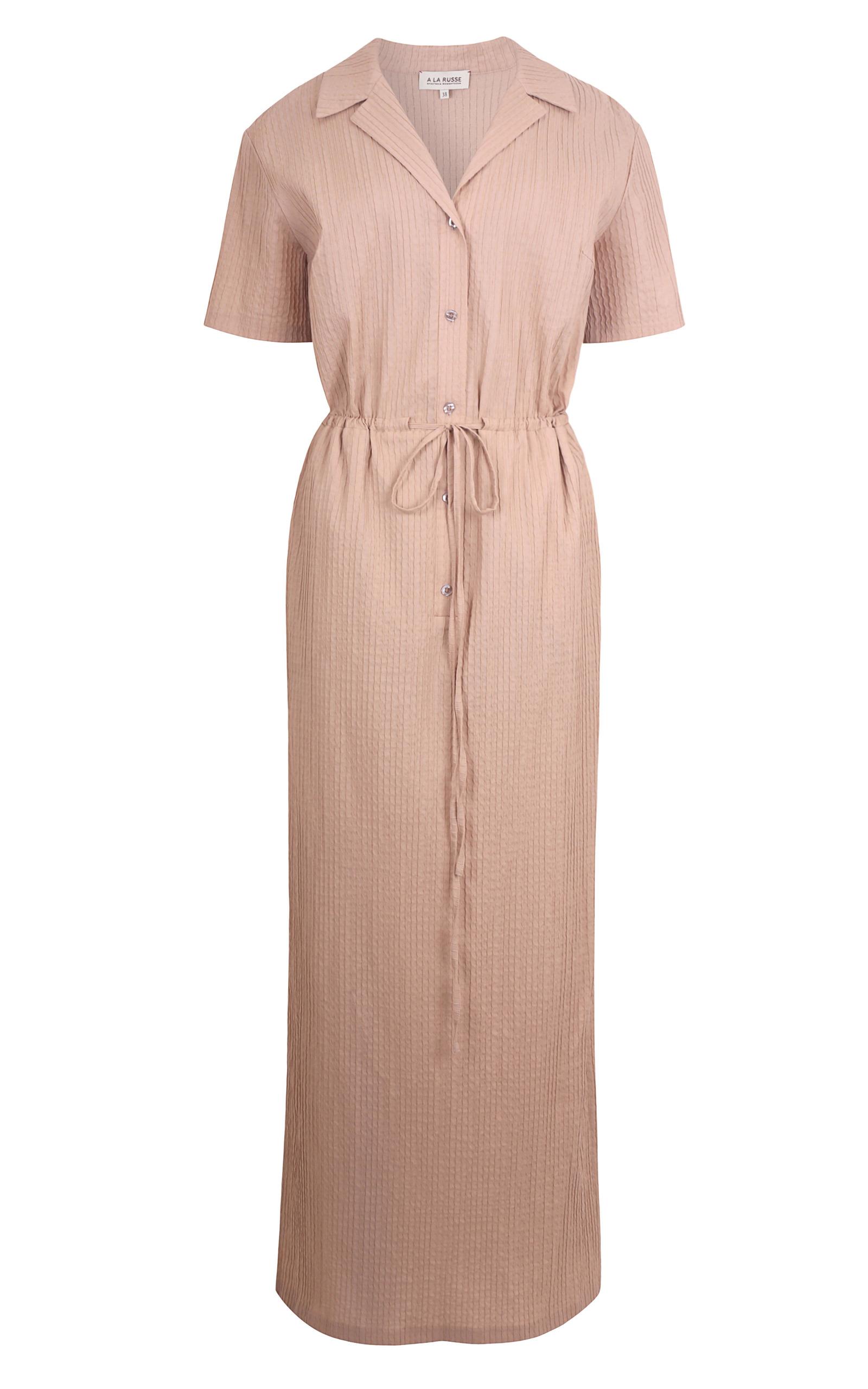 pintucked floor length shirt dress by a la russe moda
