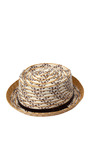 Straw Rolled Brim Fedora Hat by A LA RUSSE for Preorder on Moda Operandi