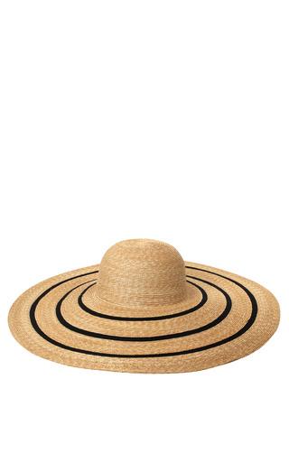 Medium a la russe brown straw floppy brim hat