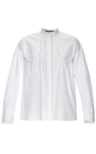 Medium vilshenko white light cotton aliona blouse with trim