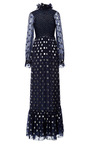 Polka Dot Silk Lurex Lara Dress by VILSHENKO for Preorder on Moda Operandi