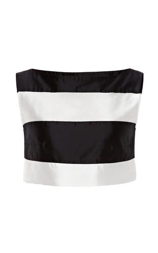Medium kalmanovich white black and white striped sleeveless top
