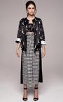 Checkered Tea Length Skirt With Cinched Waist by KALMANOVICH for Preorder on Moda Operandi