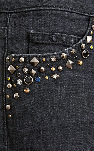 The Ankle Skinny Embellished Pocket Jeans by CURRENT/ELLIOTT Now Available on Moda Operandi