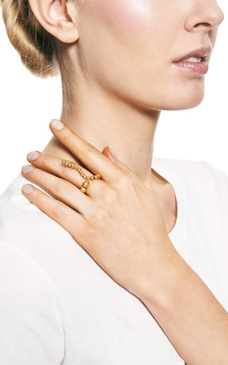 Adriane Gold Plated Coil Ring by PAULA MENDOZA Now Available on Moda Operandi