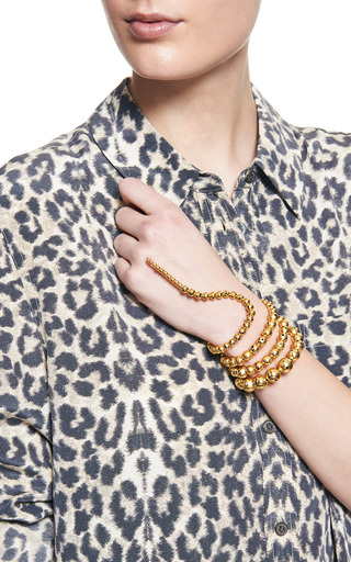 Nereus Gold Plated Coil Wrap Bracelet by PAULA MENDOZA Now Available on Moda Operandi
