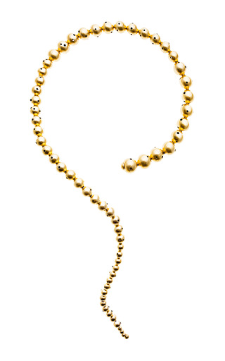 Glacucus Gold Plated Coil Necklace by PAULA MENDOZA Now Available on Moda Operandi