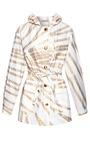 White And Gold Wheat Print Hooded Parka by ALEXANDER TEREKHOV for Preorder on Moda Operandi
