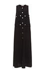 Black Sleeveless Safari Caftan by ALEXANDER TEREKHOV for Preorder on Moda Operandi