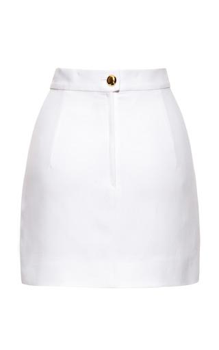 White Mini Skirt by ALEXANDER TEREKHOV for Preorder on Moda Operandi