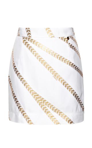 Medium alexander terekhov gold white and gold wheat print skirt