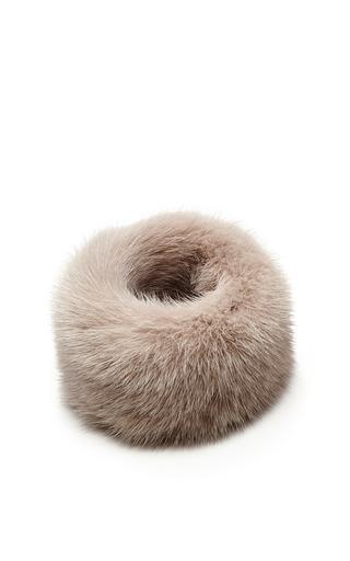 Medium esme vie dark grey grey fur mink bracelet