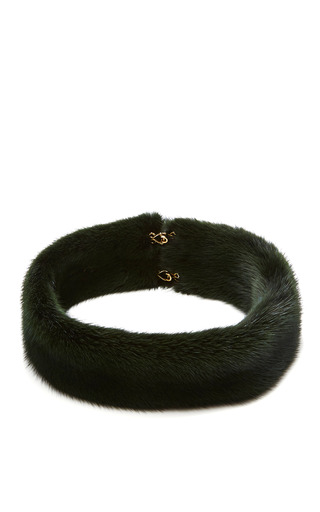 Medium esme vie green dark green mink necklace