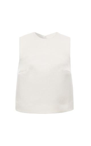 Medium esme vie white gardenia white sleeveless blouse