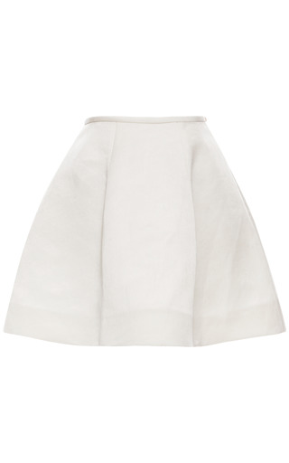 Medium esme vie white gardenia white panel gore mini skirt