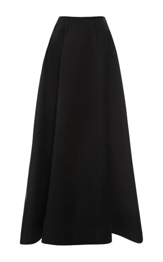 Medium esme vie black beluga black panel gore maxi skirt