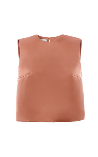 Medium esme vie pink withered rose sleeveless blouse