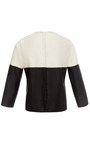 Black And White Striped Blouse by ESME VIE for Preorder on Moda Operandi