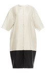 Black And White Striped Coat by ESME VIE for Preorder on Moda Operandi