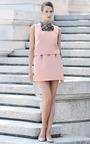 Silver Peony Column Mini Skirt by ESME VIE for Preorder on Moda Operandi