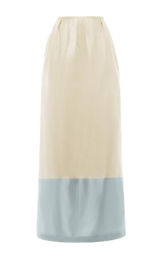 Medium esme vie blue vanilla and blue sky stripe column maxi skirt
