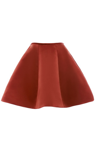 Medium esme vie red arabian spice panel gore mini skirt