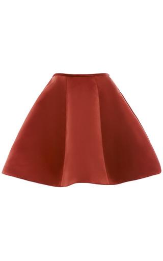 Medium esme vie red arabian spice panel gore mini skirt