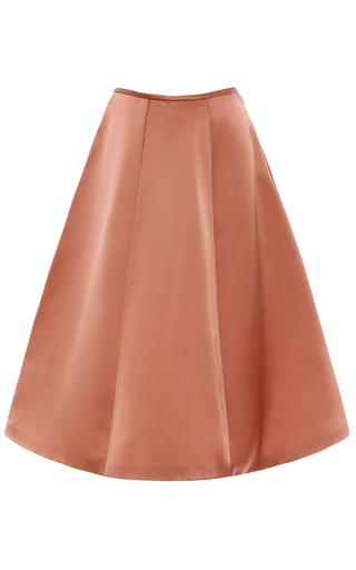 Medium esme vie pink withered rose panel gore midi skirt