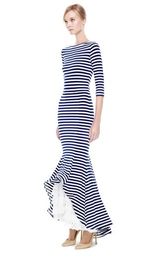 Maxi dress with ruffle bottom