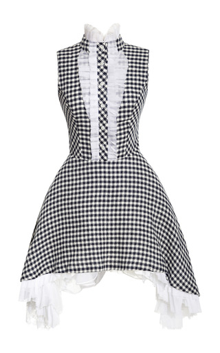 Medium natasha zinko multi gingham dress with side draped skirt