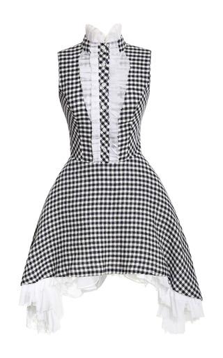 Medium natasha zinko multi gingham dress with side draped skirt
