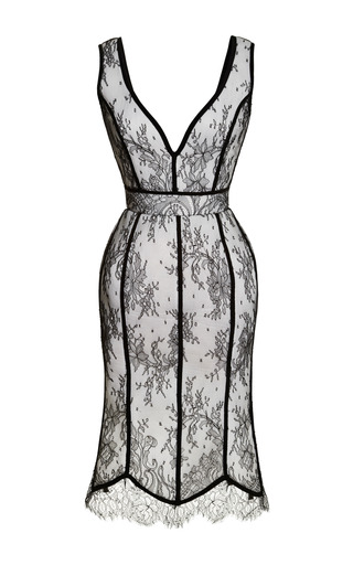 Medium natasha zinko black tulip dress with lace overlay