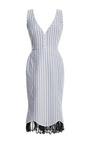 Striped Tulip Dress by NATASHA ZINKO for Preorder on Moda Operandi