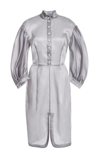Fitted Skirt Midi Dress With Voluminous Sleeves by NATASHA ZINKO for Preorder on Moda Operandi