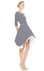 Striped Dress With Side Draped Skirt by NATASHA ZINKO for Preorder on Moda Operandi