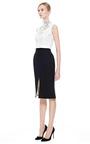 Knee Length Tulip Skirt by NATASHA ZINKO for Preorder on Moda Operandi