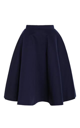 Medium natasha zinko navy wide skirt with back fold