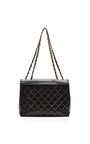 """Chanel Black Lambskin Jumbo """"Coco"""" Bag From What Goes Around Comes Around by COLLECTIBLE JACKETS for Preorder on Moda Operandi"""