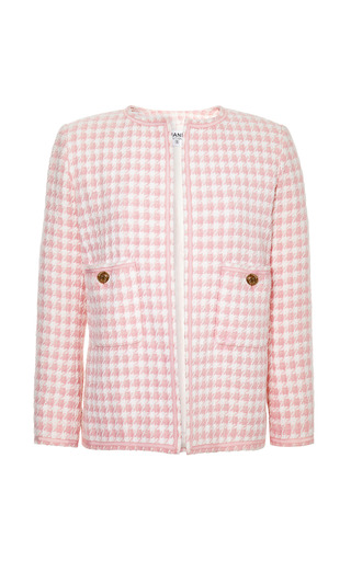 Medium collectible jackets pink chanel pink and white boucle jacket from what goes around comes around