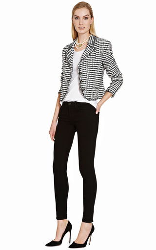Chanel Black And White Boucle Jacket From What Goes Around Comes Around by COLLECTIBLE JACKETS for Preorder on Moda Operandi