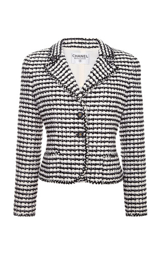 Medium collectible jackets black chanel black and white boucle jacket from what goes around comes around