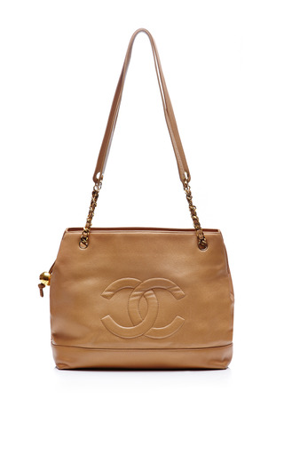 Medium collectible jackets brown chanel beige caviar embossed tote from what goes around comes around