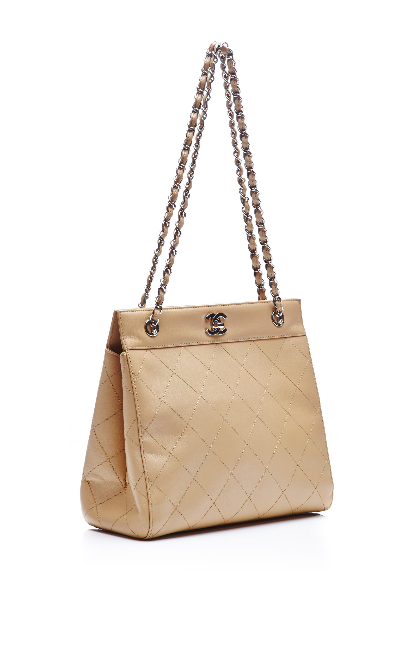 c4e8308a6d2a Collectible JacketsChanel Beige Lambskin Quilted Tote Bag from What Goes  Around Comes Around. CLOSE. Loading