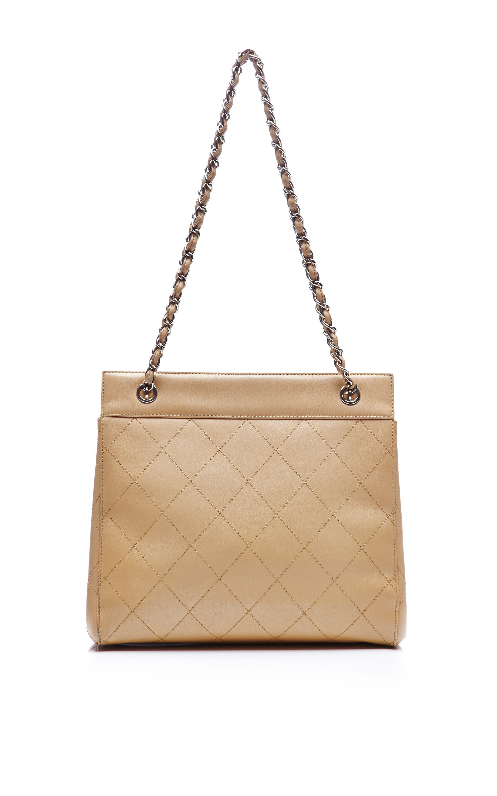 85fb631fa7ce Collectible JacketsChanel Beige Lambskin Quilted Tote Bag from What Goes  Around Comes Around. CLOSE. Loading. Loading. Loading. Loading. Loading