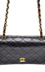 Chanel Black Quilted Lambskin Mini Single Flap Bag From What Goes Around Comes Around by COLLECTIBLE JACKETS for Preorder on Moda Operandi