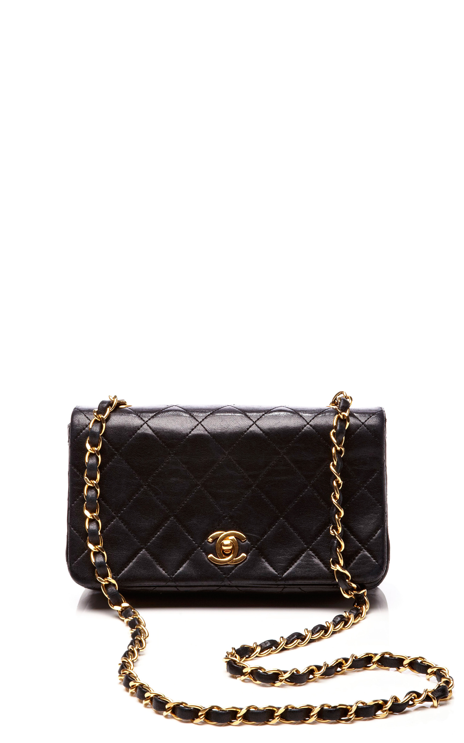 Chanel Black Quilted Lambskin Mini Single Flap Bag Moda